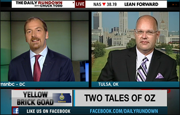 Chuck Todd and Dr. Quentin Taylor