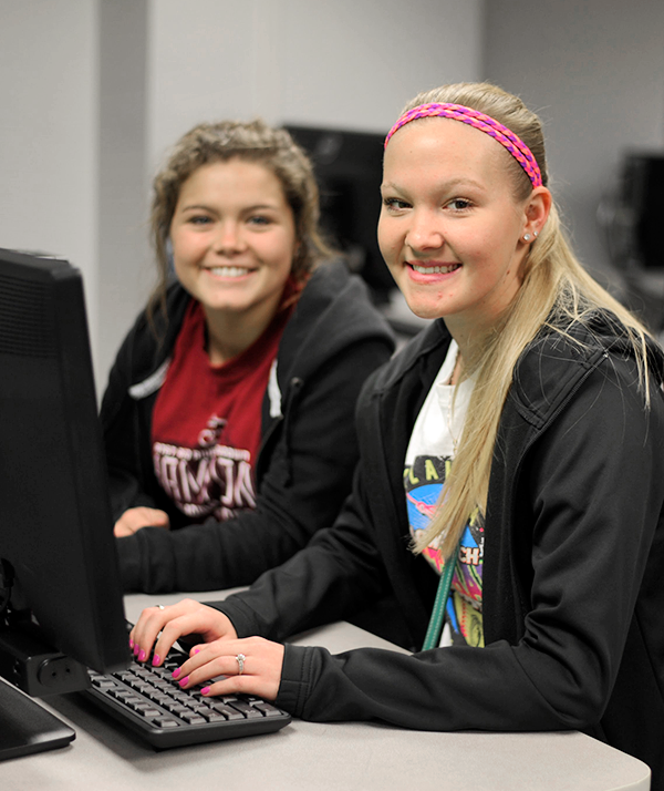 girls in computer lab